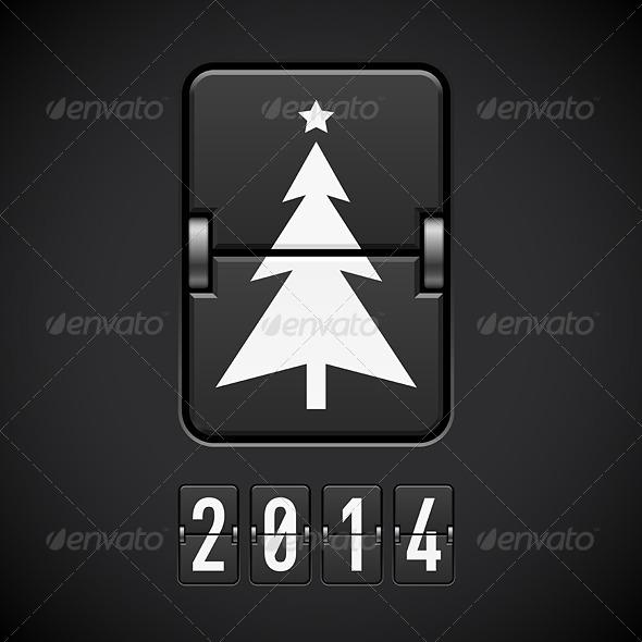 GraphicRiver New Year Symbols on Scoreboard 6007556