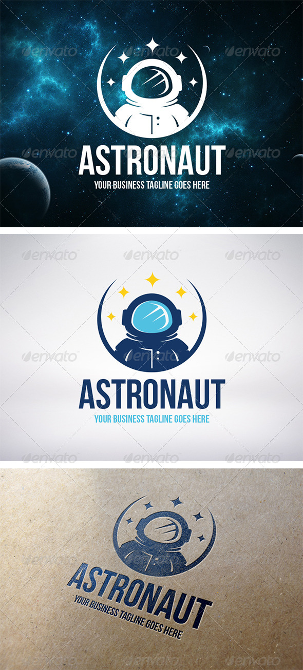 Astronaut Logo Template - Humans Logo Templates