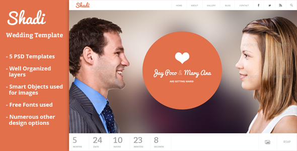 ThemeForest Shadi Event & Wedding Template 5986204