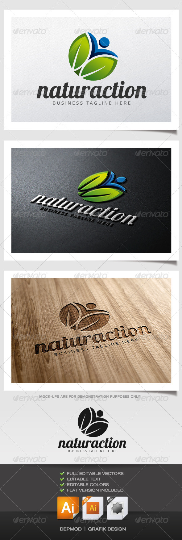GraphicRiver Naturaction Logo 5994913