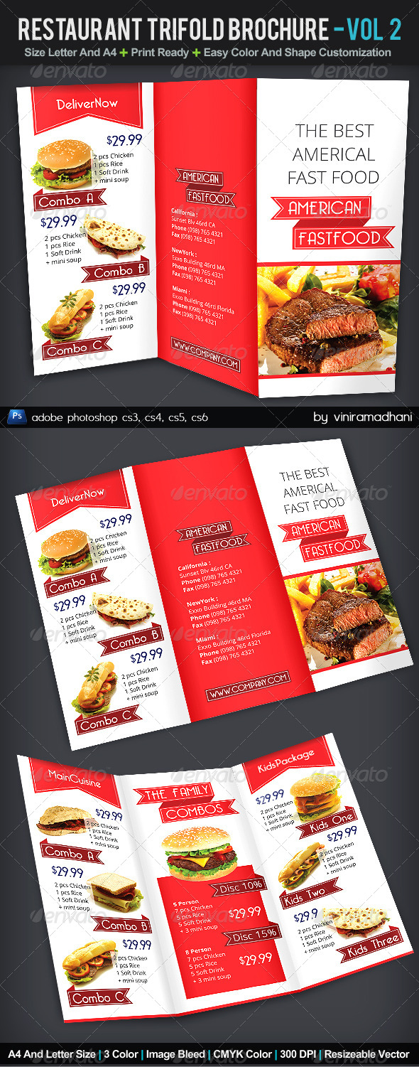 GraphicRiver Restaurant TriFold Brochure Volume 2 6009268