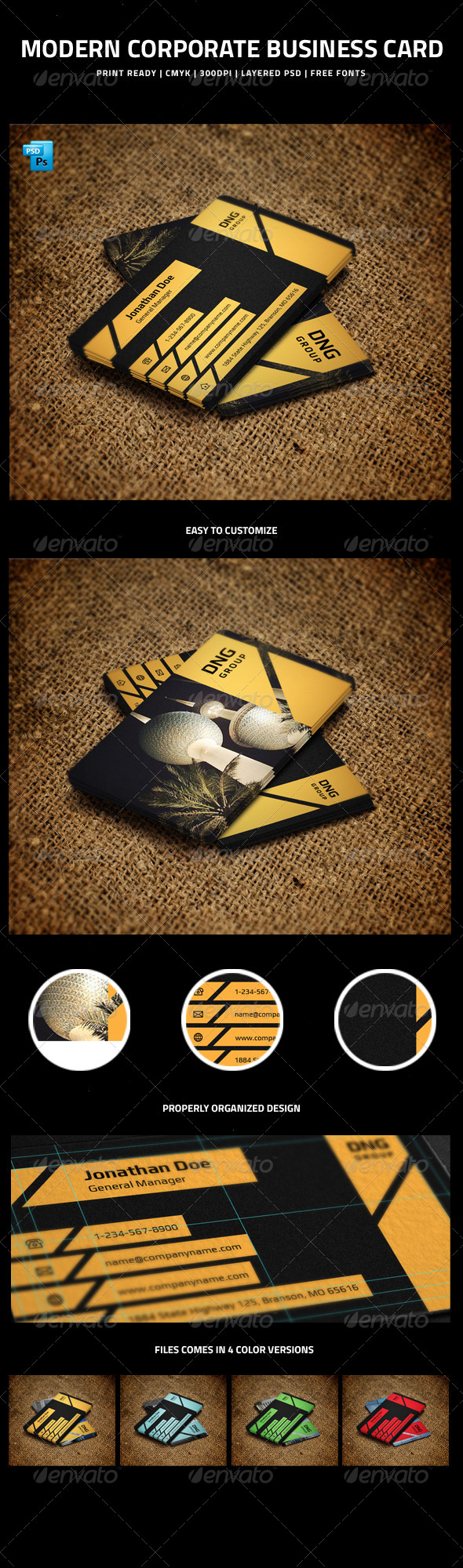 GraphicRiver Modern Corporate Business Card 5992195