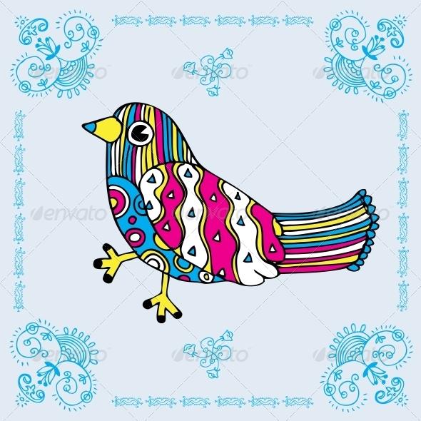 GraphicRiver Love Bird Card 6010529