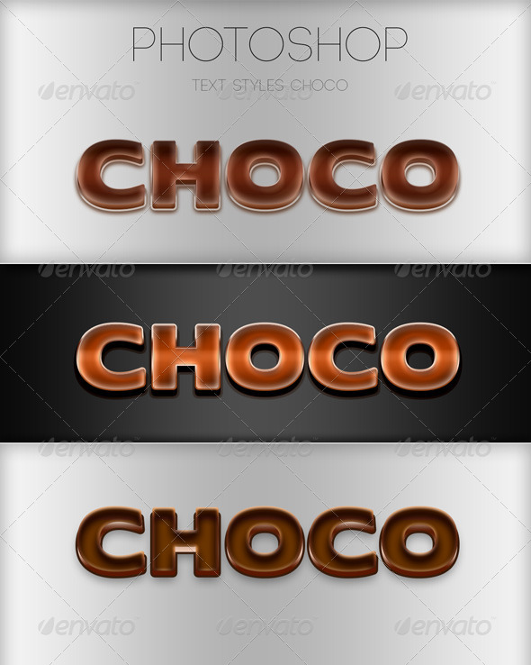 GraphicRiver Choco Photoshop Style 6010581