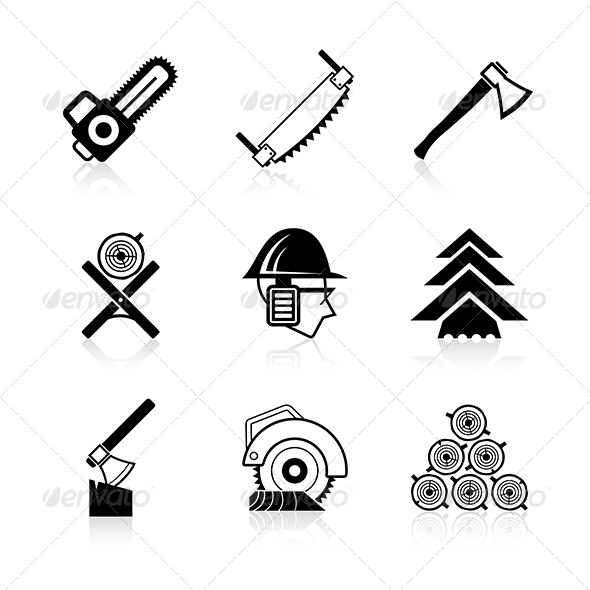GraphicRiver Woodworking Icon Set 6010602