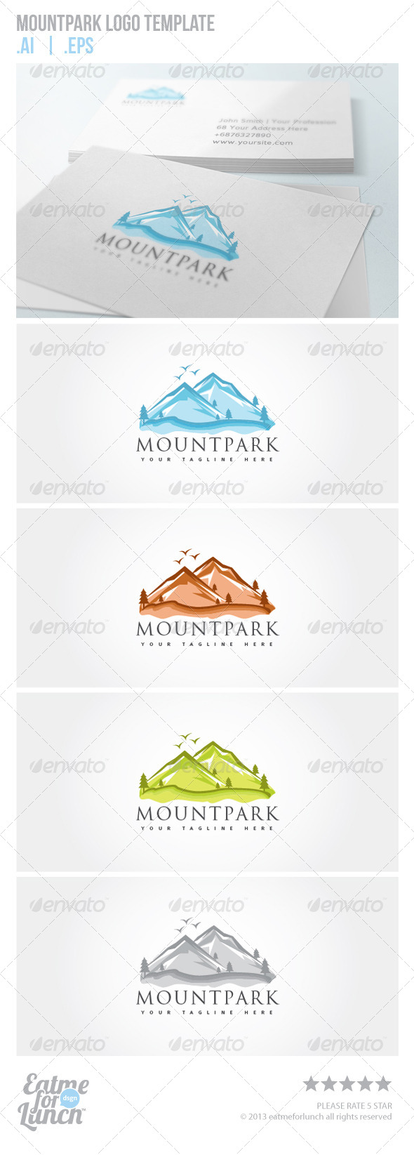 GraphicRiver Mountpark Logo Template 6010650