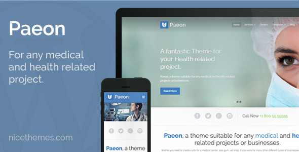 ThemeForest Paeon Medical WordPress Theme 6010663