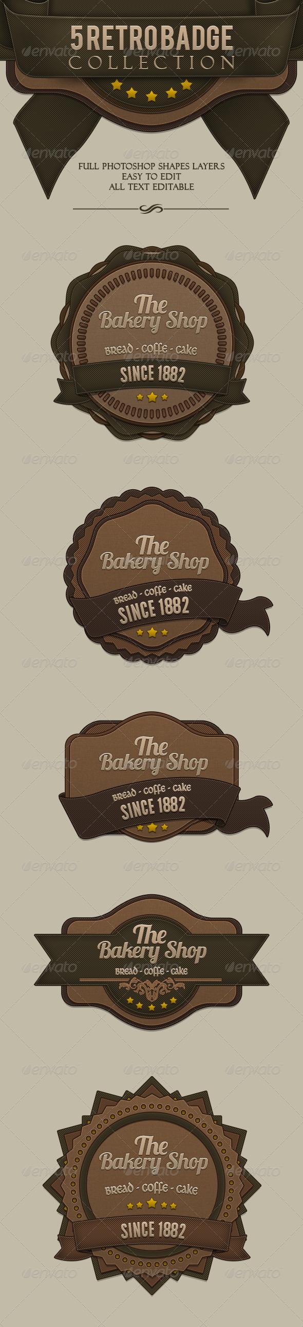 GraphicRiver Retro Badges 6000139