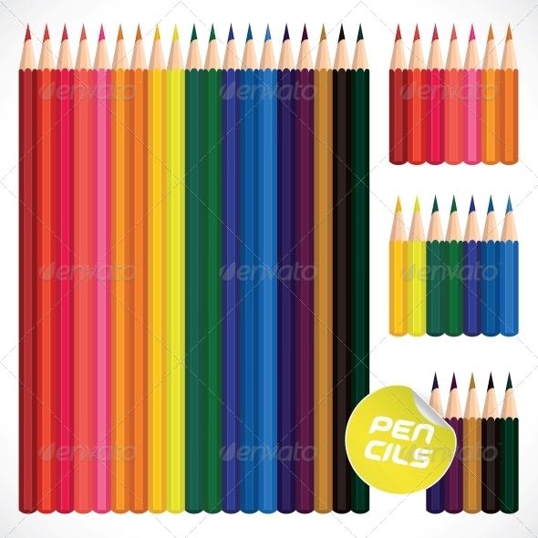 GraphicRiver Color Pencils Collection 6011804