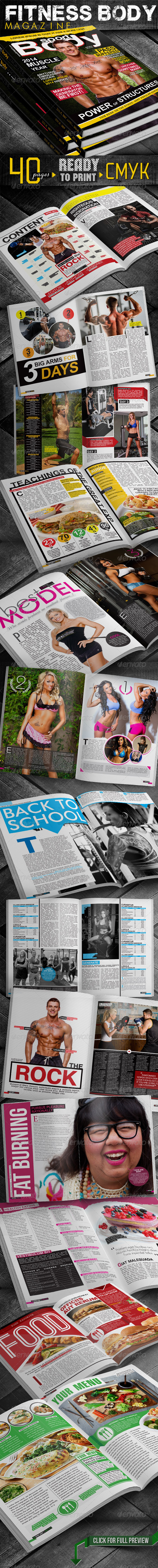 GraphicRiver Fitness Body Magazine 5959520