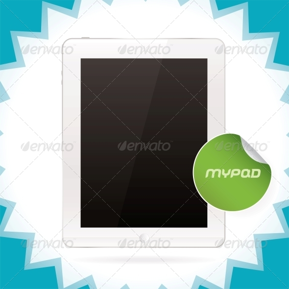GraphicRiver White Glossy Tablet Pad 6012636