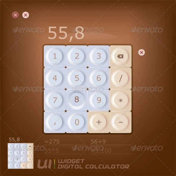GraphicRiver Calculator Illustration 6012819