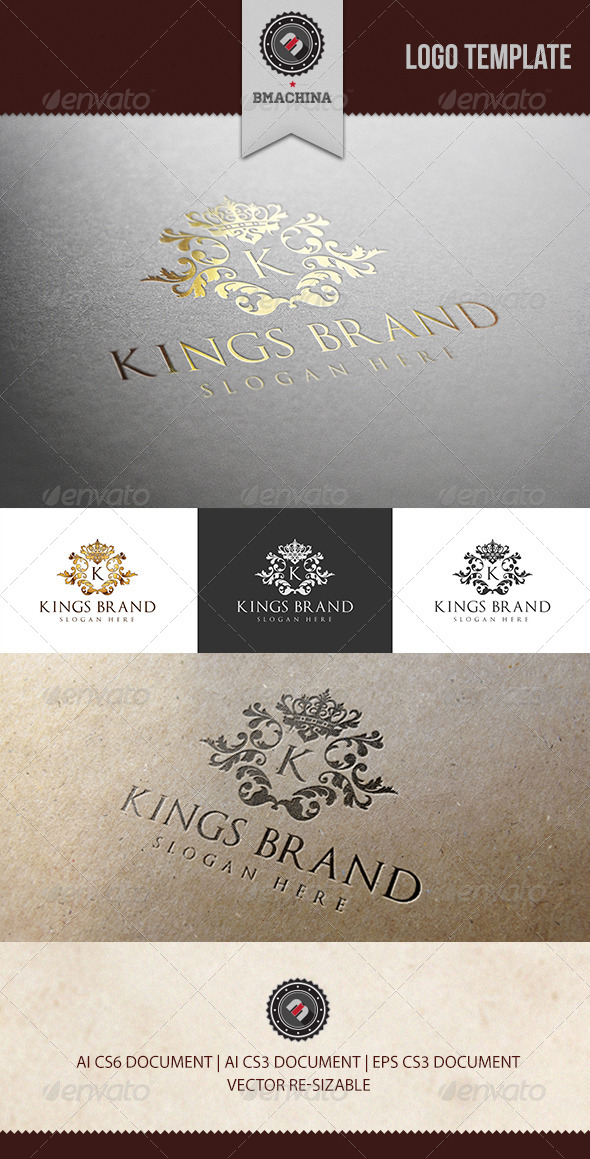 Kings Brand Logo Template - Crests Logo Templates