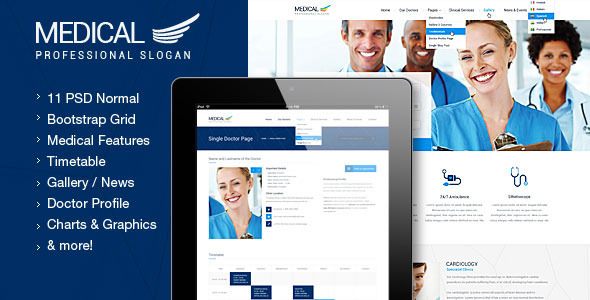 ThemeForest Medical Health and Medical PSD Template 5994360