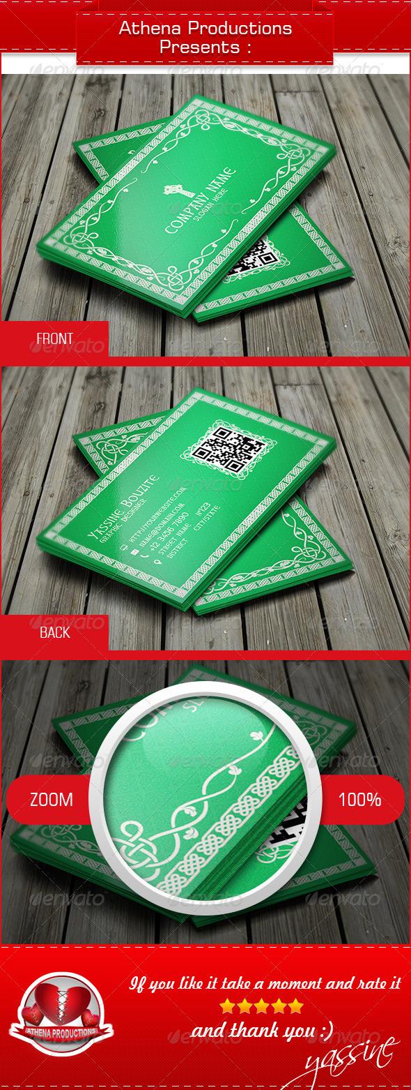 GraphicRiver Celtic Business Card 3907364