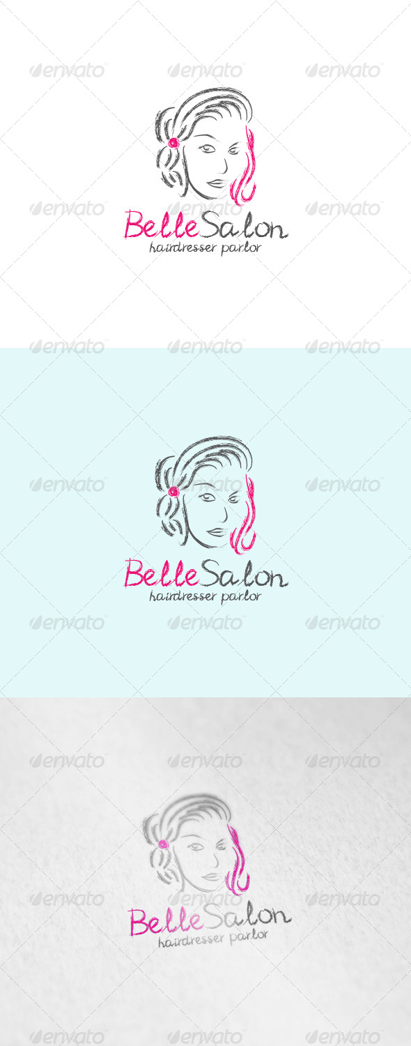 GraphicRiver Belle Salon Logo 6015092