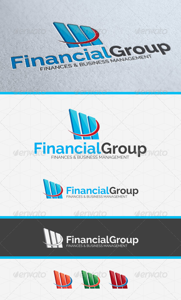GraphicRiver Financial Invest Group Logo Template 6015175