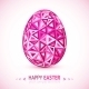 Abstract Geometry Triangles Pink Easter Egg - GraphicRiver Item for Sale