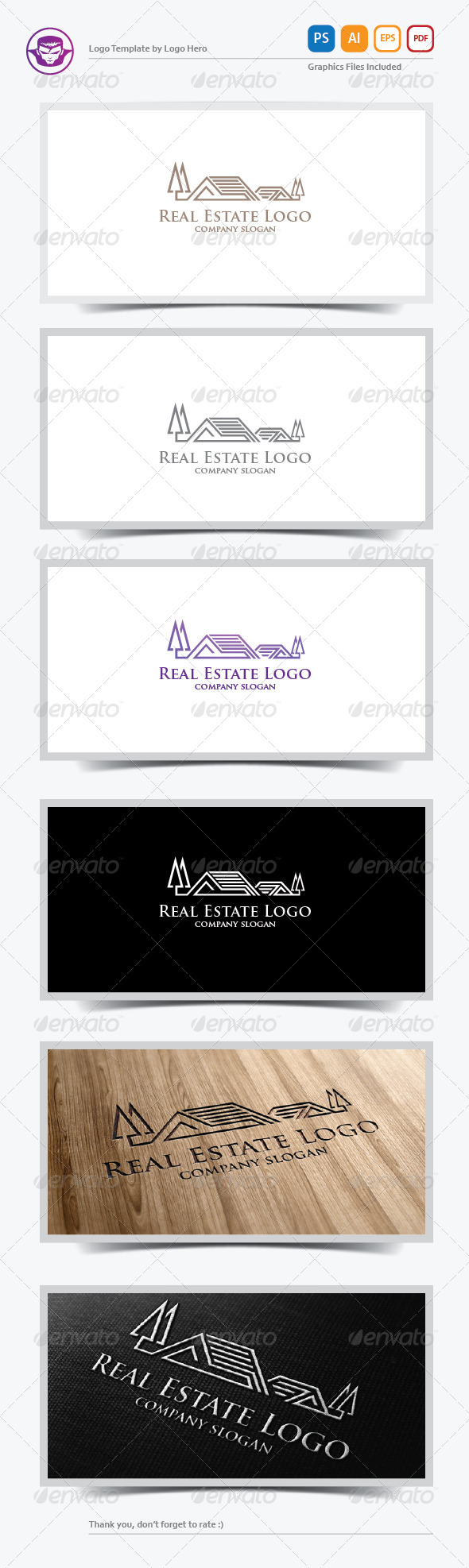 GraphicRiver Real Estate Logo Template 6016661