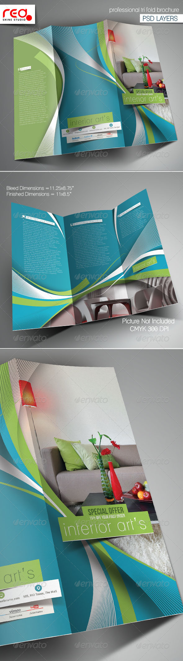 GraphicRiver Architecture & Interior Designer Trifold Brochure 6017132