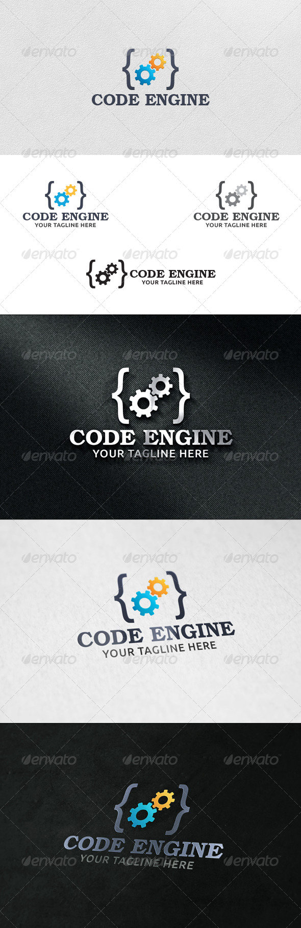 GraphicRiver Code Engine Logo Template 6017191