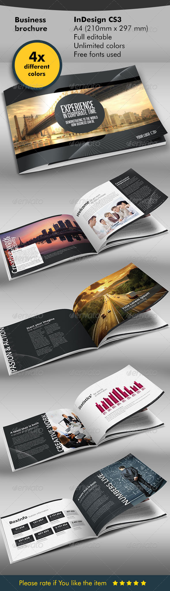 Horizontal Business Design Folder - Corporate Brochures