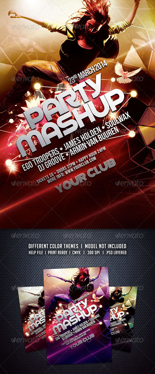 GraphicRiver Party Mashup Flyer 6017783