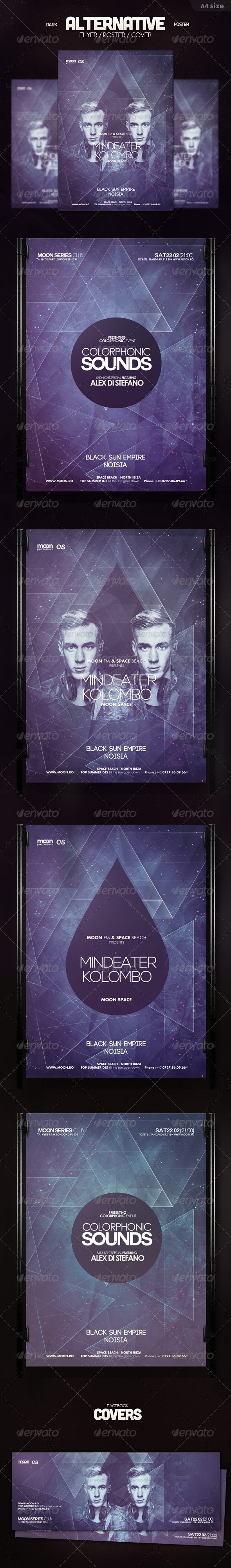GraphicRiver Dark Alternative Flyer 6018088