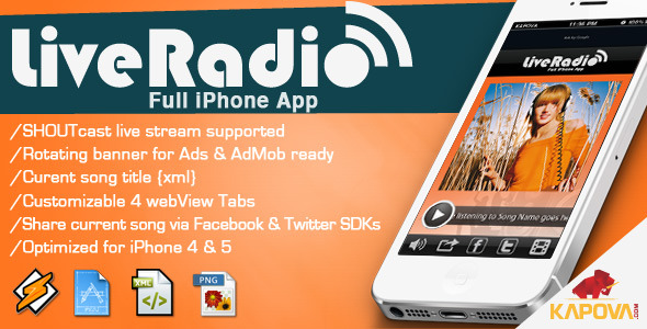 CodeCanyon Live Radio App for iPhone 5972518