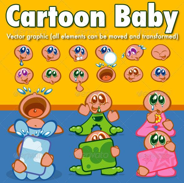 GraphicRiver Cartoon Baby 6018696