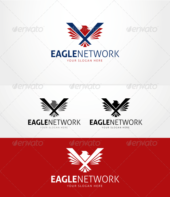 GraphicRiver Eagle Network Logo Template 6018883