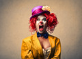 Screaming Woman Clown  - PhotoDune Item for Sale