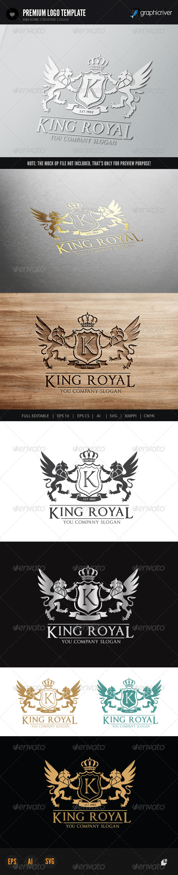 GraphicRiver King Royal Logo II 6020985