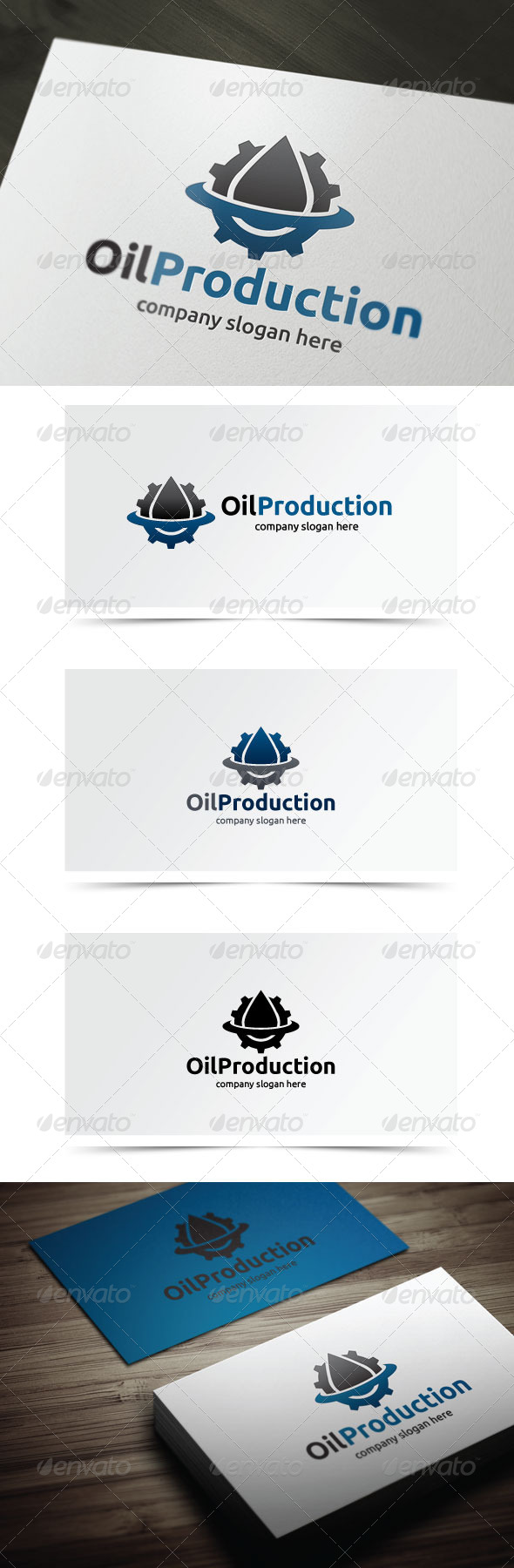 Oil Production - Objects Logo Templates
