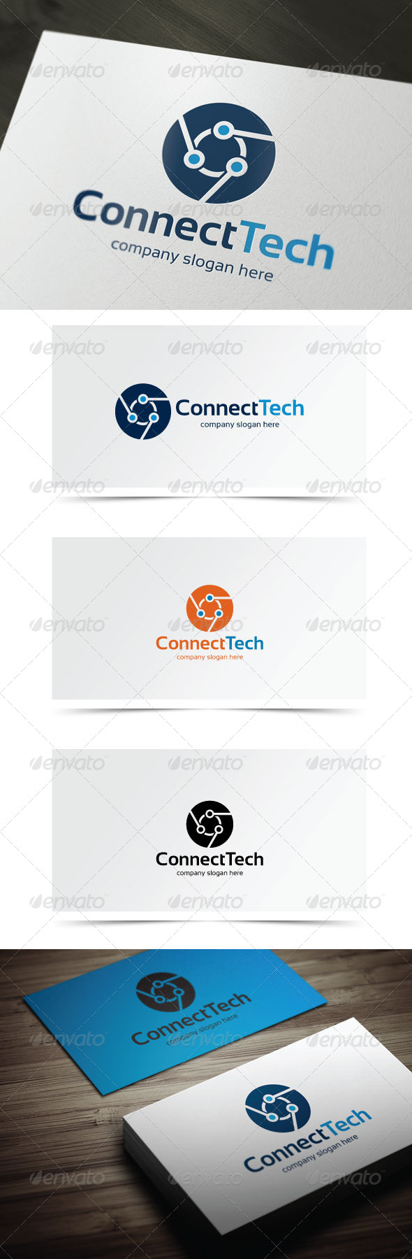 Connect Tech - Abstract Logo Templates