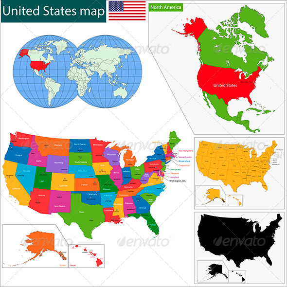 GraphicRiver United States of America Map 6022424