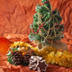 Christmas tree, garlands, decorations and candles, gingerbread cookies - PhotoDune Item for Sale