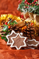 chocolate Christmas cookies and Christmas decorations - PhotoDune Item for Sale