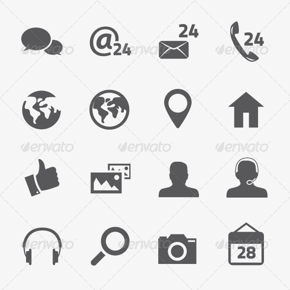 GraphicRiver Social Media and Connection Vector Icons Set 6022713