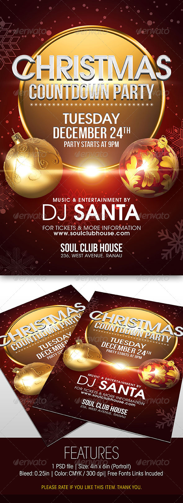 GraphicRiver Christmas Countdown Party Flyer 6022943