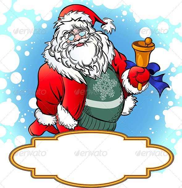 GraphicRiver Santa with Bell 6023067