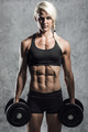 fitness girl with dumbells - PhotoDune Item for Sale