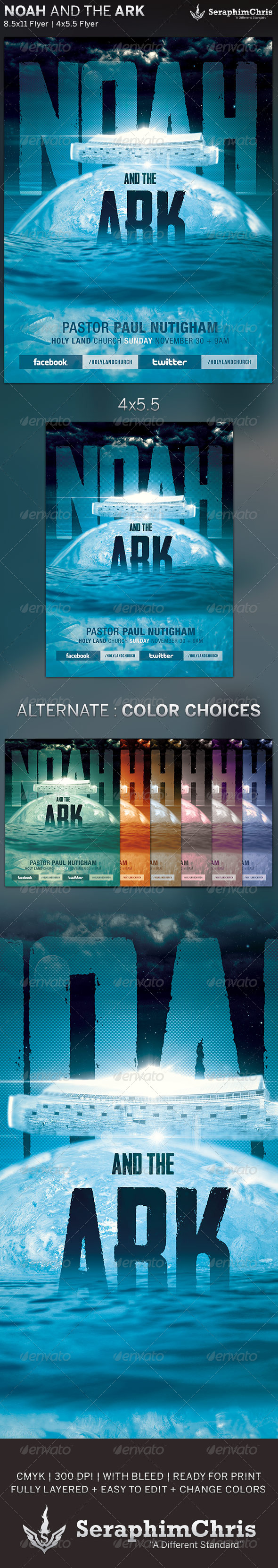 GraphicRiver Noah and the Ark Church Flyer Template 6023867