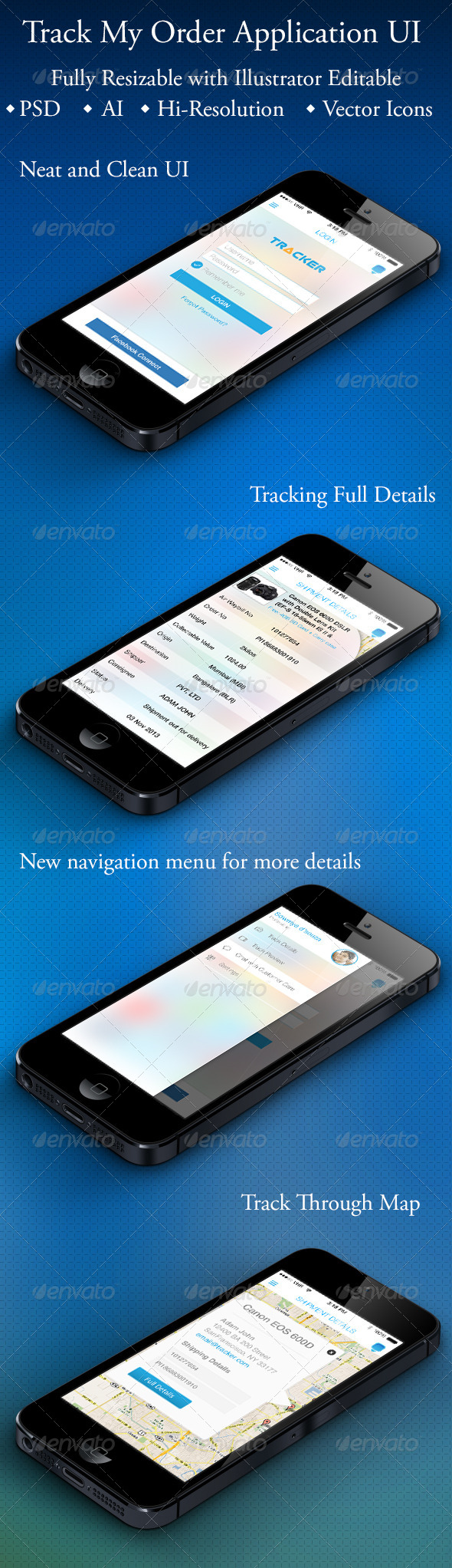 GraphicRiver Track My Order Application 6023895