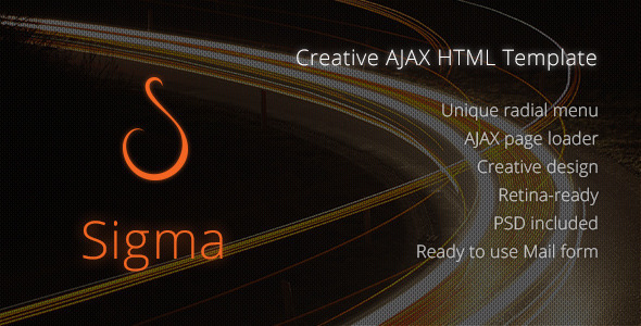 Sigma: Creative AJAX HTML Template - Virtual Business Card Personal
