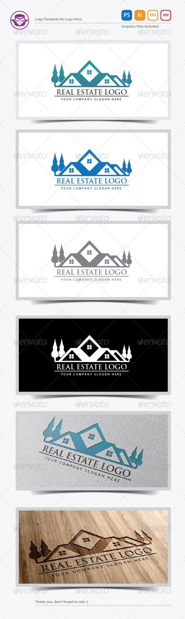 GraphicRiver Real Estate Logo Template V.2 6024774