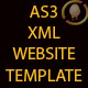 AS3 XML WEBSITE TEMPLATE - ActiveDen Item for Sale