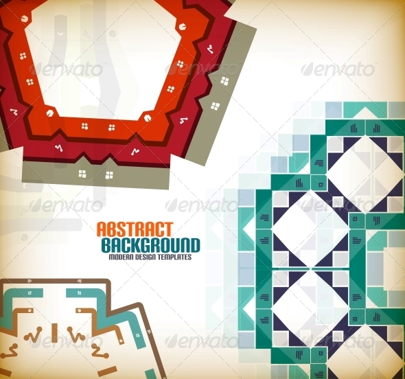 GraphicRiver Vector Geometric Vintage Retro Background 6025614