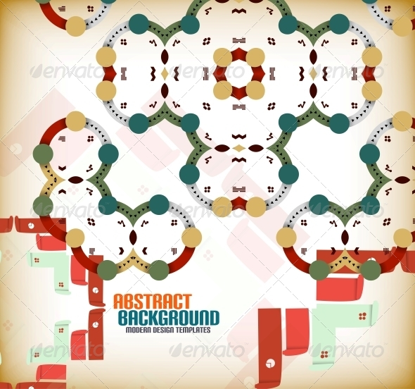 GraphicRiver Vector Geometric Vintage Retro Background 6025639