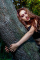 Happy life, beautiful woman hugging a tree - PhotoDune Item for Sale